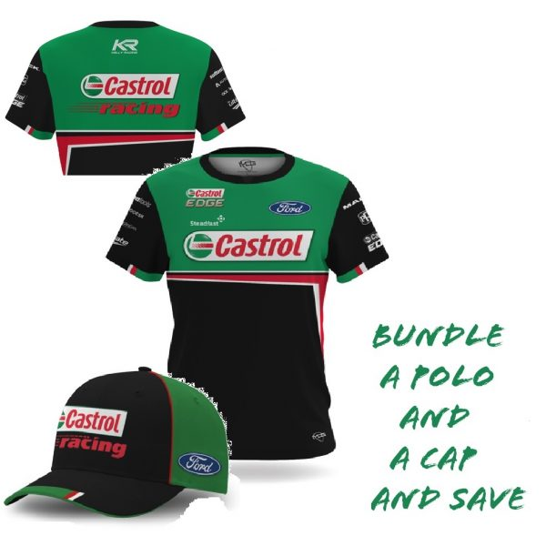 Mens Castrol TShirt and Cap